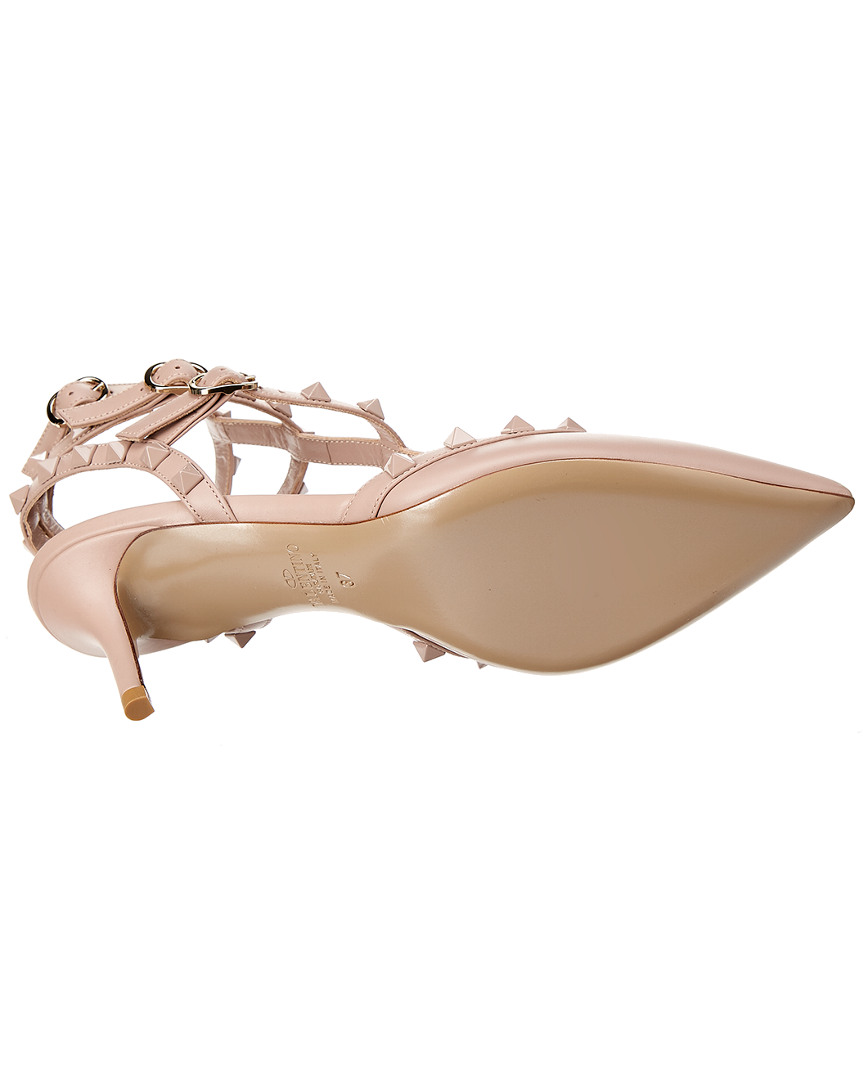 Valentino-Cage-Lacquer-Rockstud-65-Leather-Ankle-Strap-Pump-Women-039-s thumbnail 9