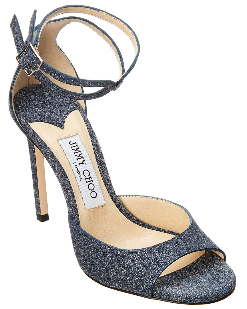 44c493bba213 Jimmy Choo Lane 100 Glitter Leather Sandal