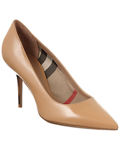 Burberry Mawdesley Leather Pointy Toe Pump