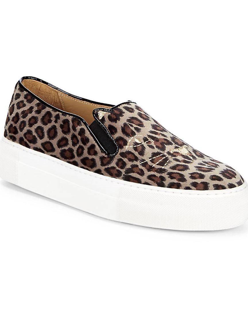 4f2a0420a83 Charlotte Olympia Leopard-Print Platform Sneaker
