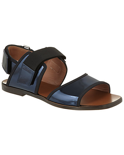Marni Metallic Leather Double Band Sandal