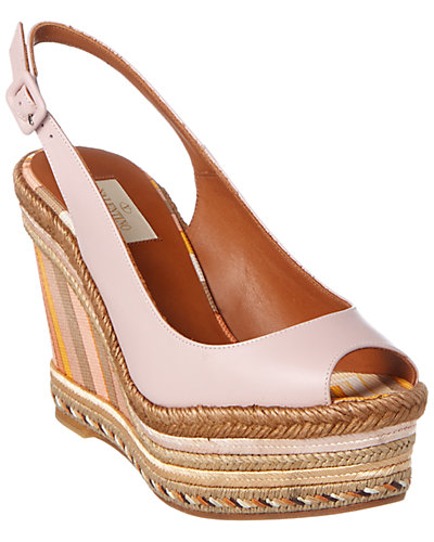 Valentino Native Couture 1975 Espadrille Slingback Wedge