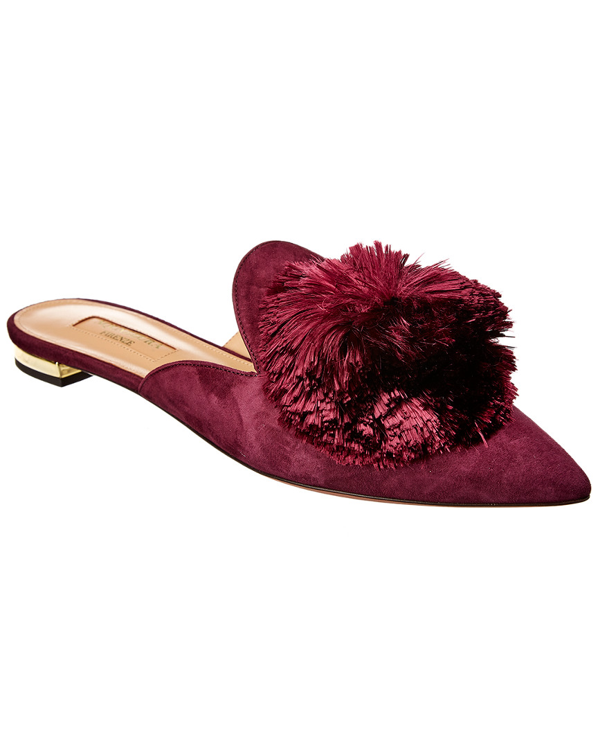 Powder Puff Suede Mule in Purple