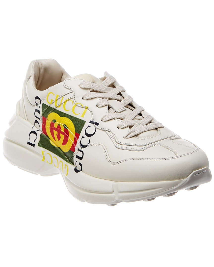 cf2123db7 Gucci Rhyton Logo Leather Sneaker