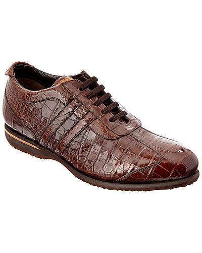 Caporicci Alligator Lace-Up Sneaker