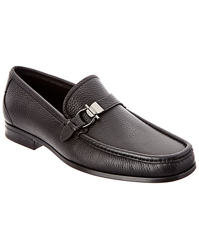 Salvatore Ferragamo Muller Ornamented Leather Loafer