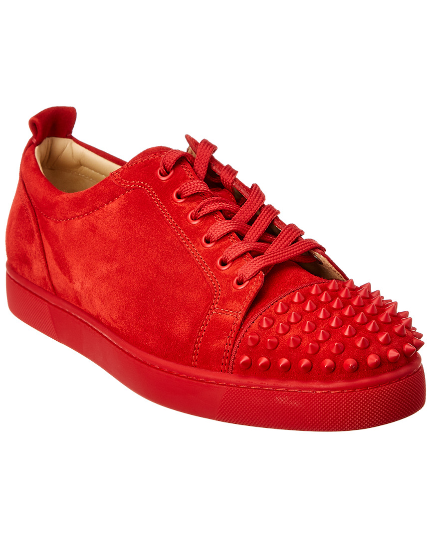 d1951941dc24 Christian Louboutin Louis Junior Spikes Suede Sneaker