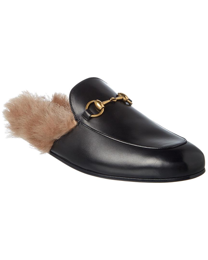 14c254eb5554 Gucci Princetown Leather Slipper | eBay
