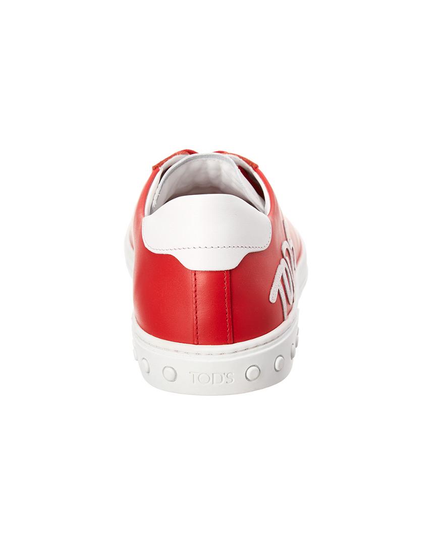 Tod's Logo Logo Logo Applique Pelle Sneaker 4a4c5e