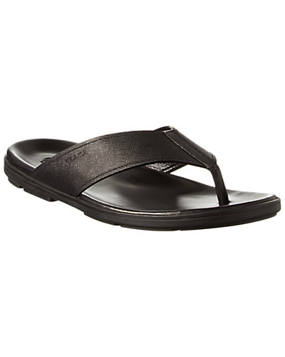 Prada Saffiano Leather Sandal