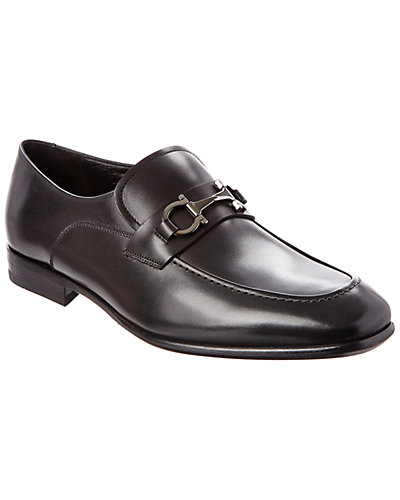 Salvatore Ferragamo Malcom Gancini Leather Loafer