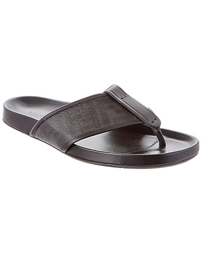 FENDI Zucca Coated Canvas Criss-Cross Sandal
