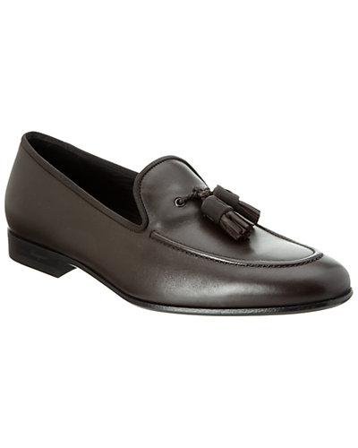 Salvatore Ferragamo Tassel Leather Loafer