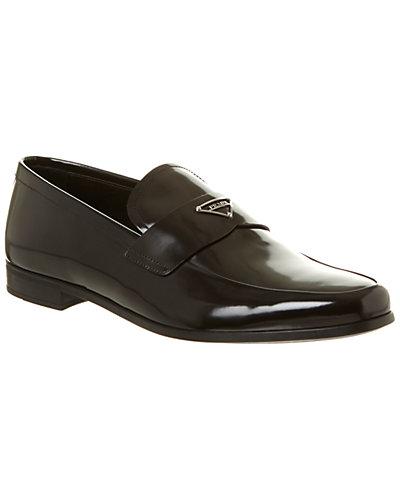 Prada Brushed Leather Loafer