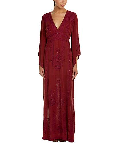 Calypso St. Barth Demme Embellished Silk-Blend Caftan