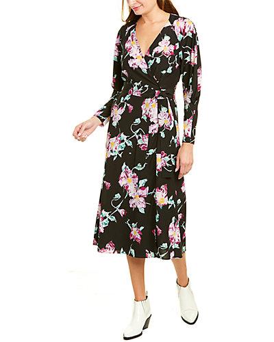 Rue La La — A.L.C. Quinn Silk-Blend Midi Dress