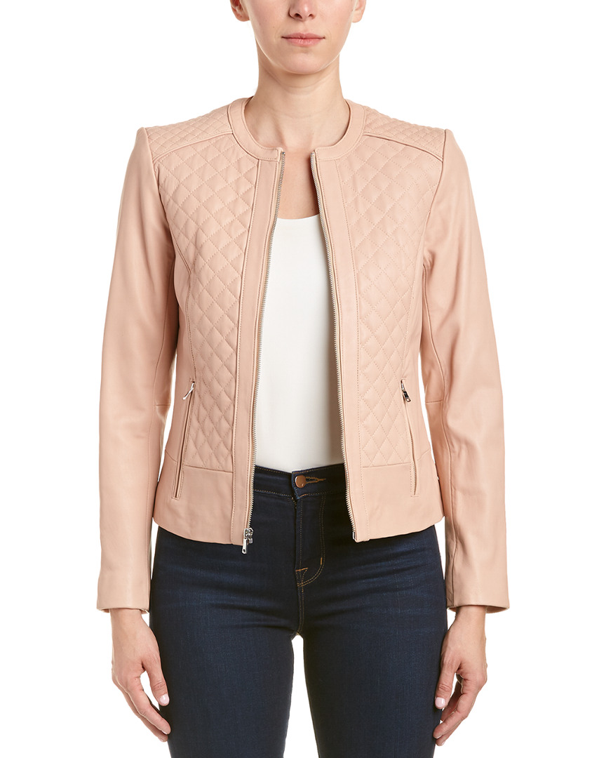 Cole Haan Quilted Leather Jacket Ebay
