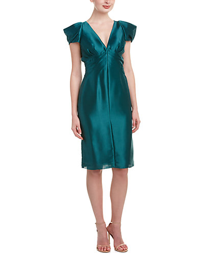 Leon Max Silk-Lined Sheath Dress