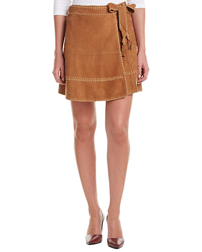 Calypso St. Barth Larecia Leather Wrap Skirt