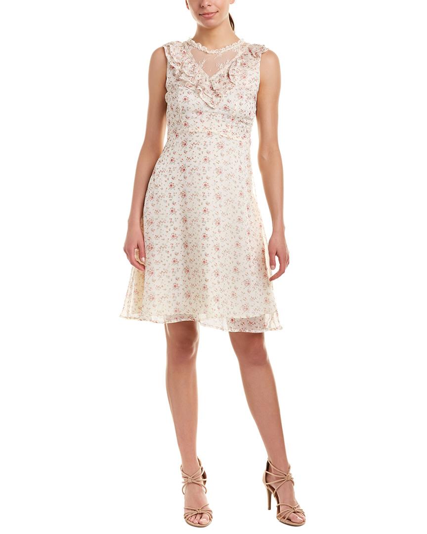 Avantlook FLORAL SHIFT DRESS