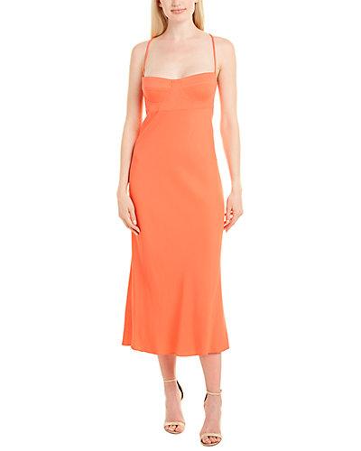 Rue La La — Michelle Mason Bustier Silk-Lined Midi Dress