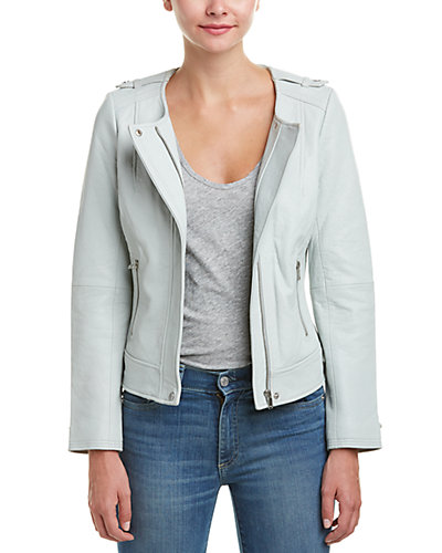 Joie Mikita Silk-Lined Leather Jacket