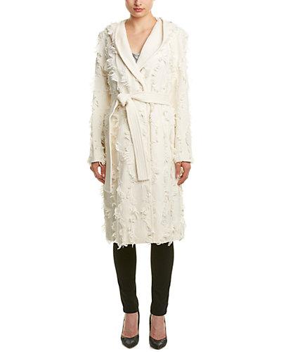 Rebecca Taylor Wool-Blend Hooded Coat