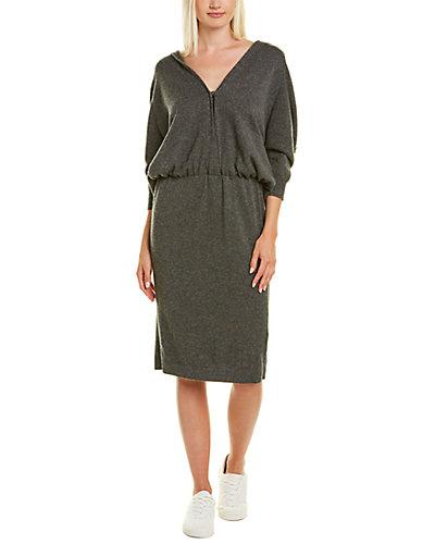 Rue La La — Brunello Cucinelli Hooded Cashmere Sheath Dress
