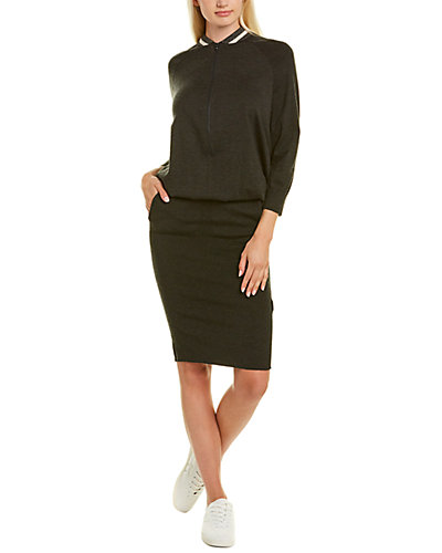 Rue La La — Brunello Cucinelli Zipper Cashmere-Blend Sheath Dress