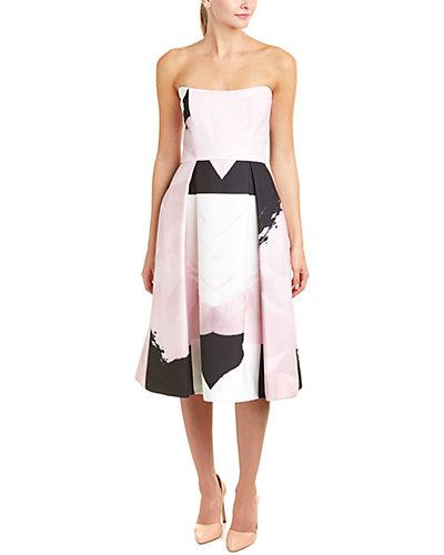 NICHOLAS Pleated A-Line Dress