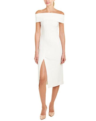 NICHOLAS Folded-Shoulder Sheath Dress