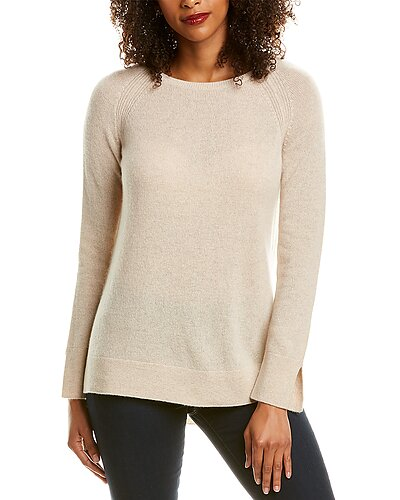 Rue La La — Hannah Rose High-Low Cashmere Sweater