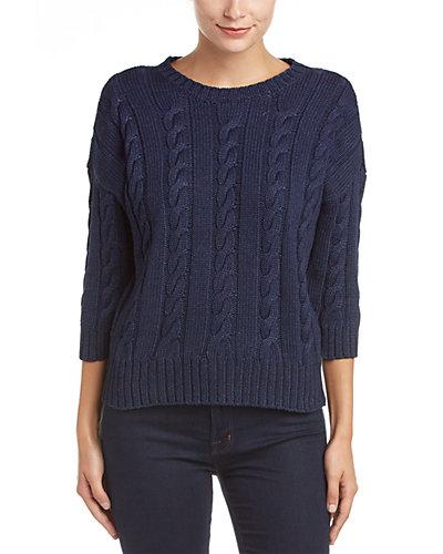 Rue La La — Three Dots Miranda 3/4-Sleeve Cropped Sweater