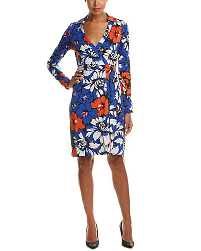 Diane von Furstenberg New Jeanne Two Silk-Blend Wrap Dress