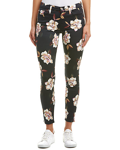7 For All Mankind Calypso Floral Ankle Skinny Leg