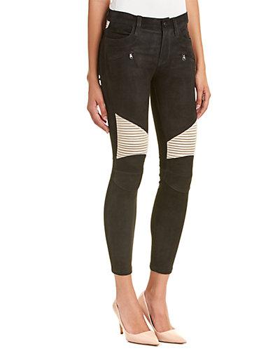 HUDSON Jeans Shelby Black Custom Moto Leather Super Skinny Leg