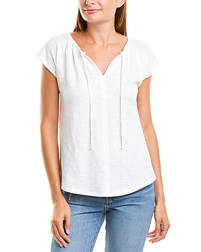 Rue La La — Lilla P Split Neck T-Shirt