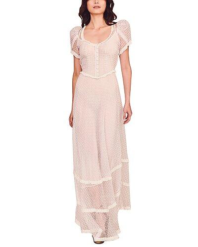 Rue La La — LoveShackFancy Odessa Silk Maxi Dress