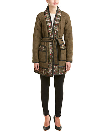 Rebecca Taylor Picktstitch Embroidered Coat