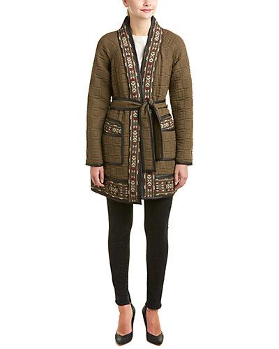 Rebecca Taylor Picktstitch Embroidered Coat