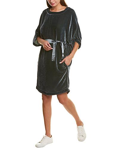 Rue La La — Piazza Sempione Silk-Blend Shift Dress