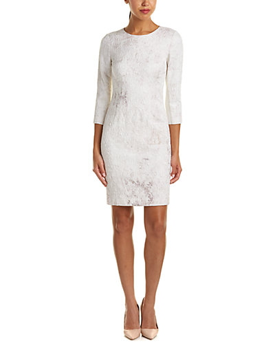 Elie Tahari Silk-Blend Sheath Dress