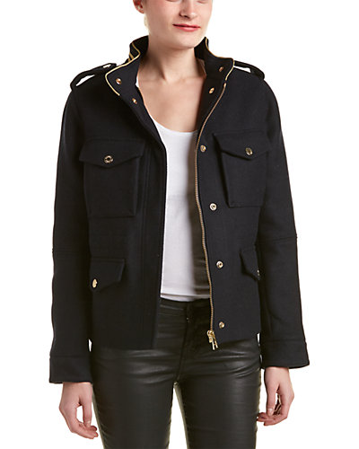Zadig & Voltaire Kapoi Lainage Military Wool-Blend Jacket