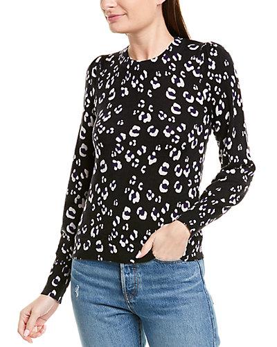 Rue La La — Rebecca Taylor Cheetah Print Wool Pullover