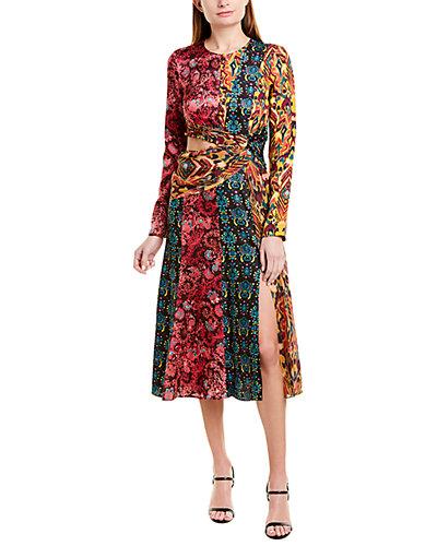 Rue La La — PRABAL GURUNG Taxila Silk Midi Dress