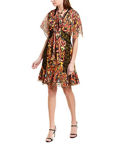 Rue La La — PRABAL GURUNG Sohawa Silk Mini Dress