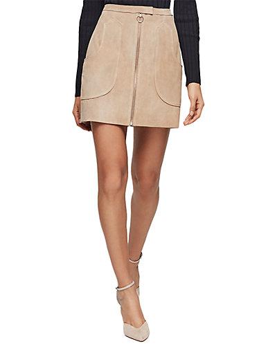 Rue La La — Reiss Keaton Suede Mini Skirt