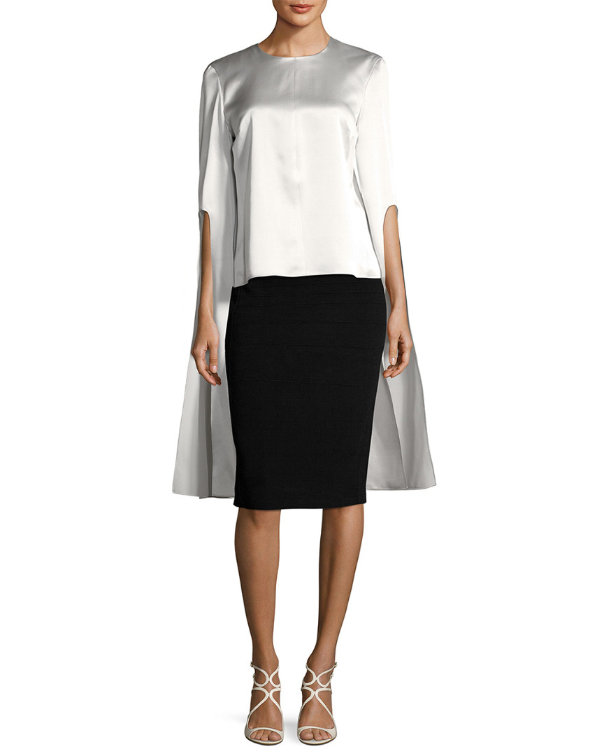 Narciso Rodriguez SILK SPLIT SLEEVE BLOUSE