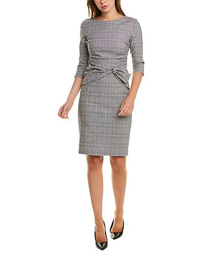 Rue La La — Sara Campbell Buckle Linen-Blend Sheath Dress