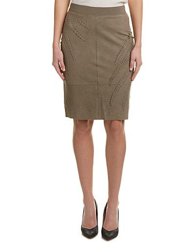 Elie Tahari Suede Pencil Skirt